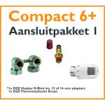 Compact 6 plus Thermostatisch aansluitpakket 2 t.b.v. 15 of 16 mm buis